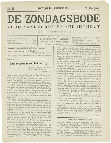 De Zondagsbode voor Zandvoort en Aerdenhout 1913-10-19
