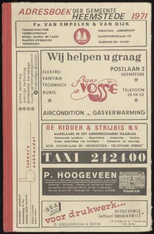 Adresboeken Heemstede 1971