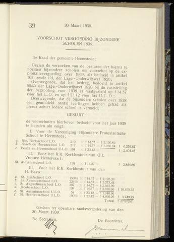 Raadsnotulen Heemstede 1939-03-30
