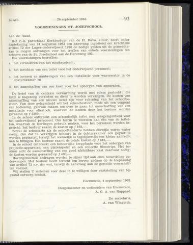 Raadsnotulen Heemstede 1963-09-26