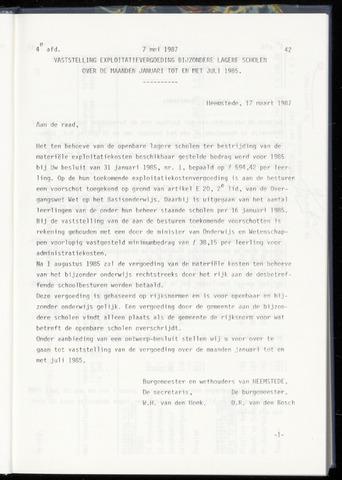Raadsnotulen Heemstede 1987-05-07