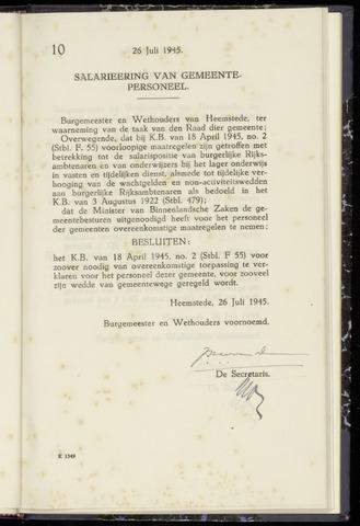 Raadsnotulen Heemstede 1945-07-26