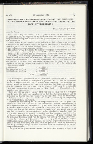 Raadsnotulen Heemstede 1973-08-30