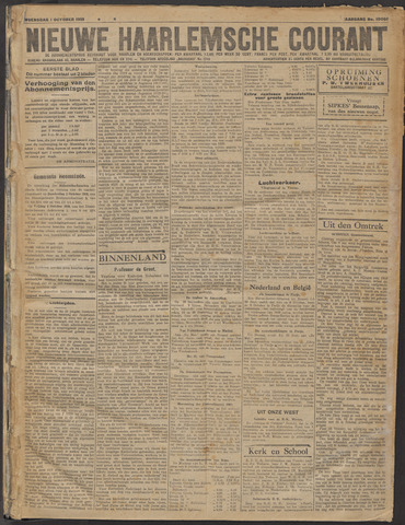 Nieuwe Haarlemsche Courant 1919-10-01