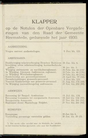 Raadsnotulen Heemstede 1930-01-01