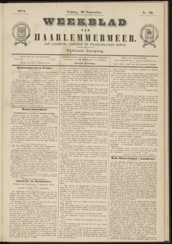 Weekblad van Haarlemmermeer 1874-09-25