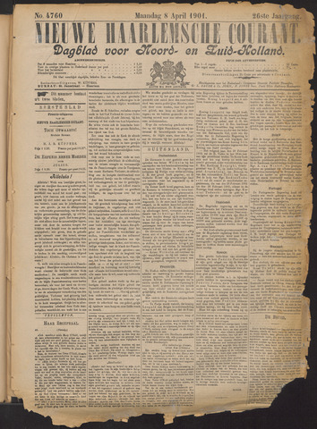 Nieuwe Haarlemsche Courant 1901-04-08