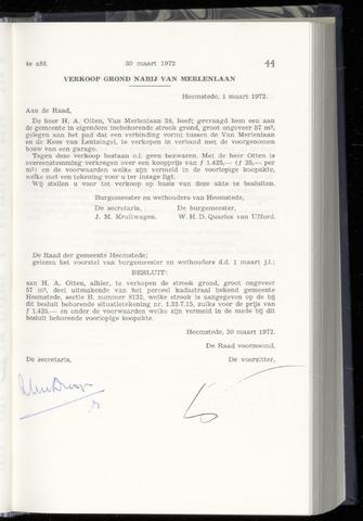Raadsnotulen Heemstede 1972-03-30