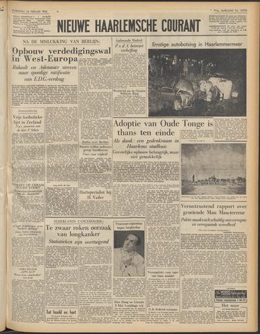 Nieuwe Haarlemsche Courant 1954-02-24