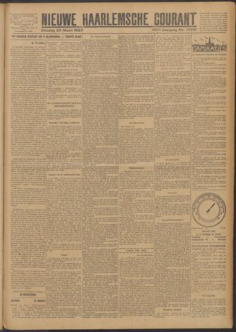 Nieuwe Haarlemsche Courant 1923-03-20