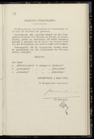 Raadsnotulen Heemstede 1942-03-03