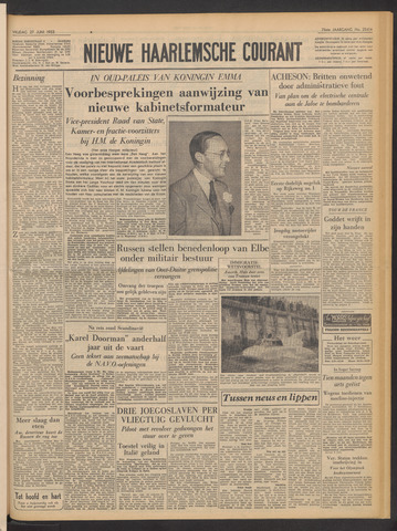 Nieuwe Haarlemsche Courant 1952-06-27