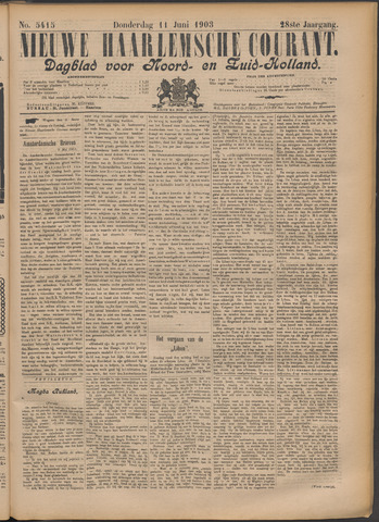 Nieuwe Haarlemsche Courant 1903-06-11