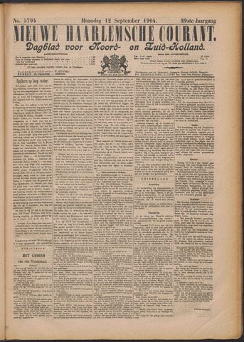 Nieuwe Haarlemsche Courant 1904-09-12