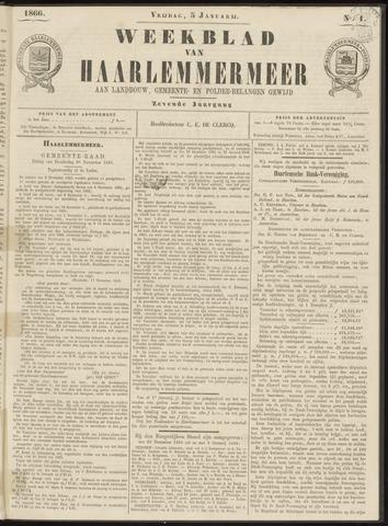 Weekblad van Haarlemmermeer 1866-01-05