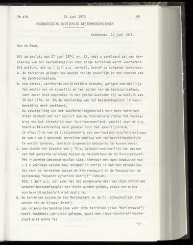 Raadsnotulen Heemstede 1975-06-26