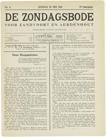 De Zondagsbode voor Zandvoort en Aerdenhout 1913-05-25