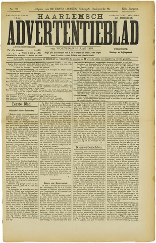 Haarlemsch Advertentieblad 1889-04-10