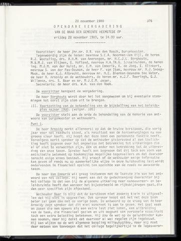 Raadsnotulen Heemstede 1980-11-28