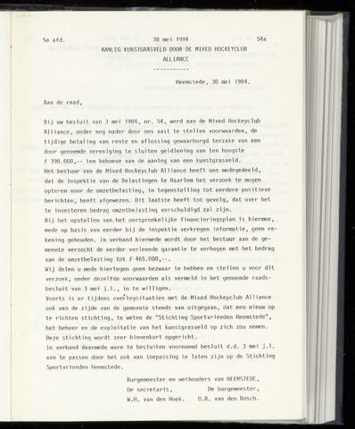 Raadsnotulen Heemstede 1984-05-30