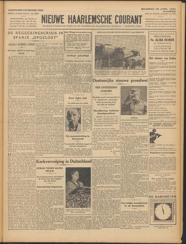 Nieuwe Haarlemsche Courant 1934-04-30
