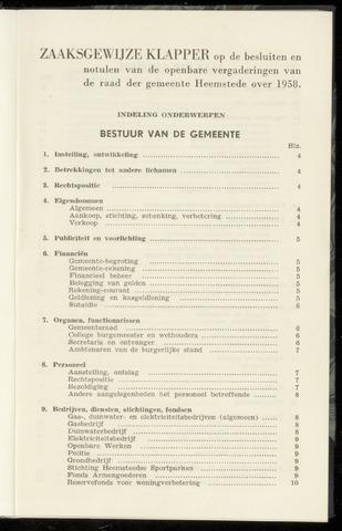 Raadsnotulen Heemstede 1958-01-01