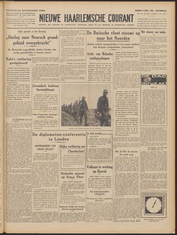 Nieuwe Haarlemsche Courant 1940-04-09