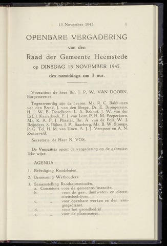 Raadsnotulen Heemstede 1945-11-13