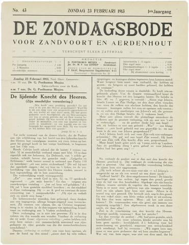 De Zondagsbode voor Zandvoort en Aerdenhout 1913-02-23