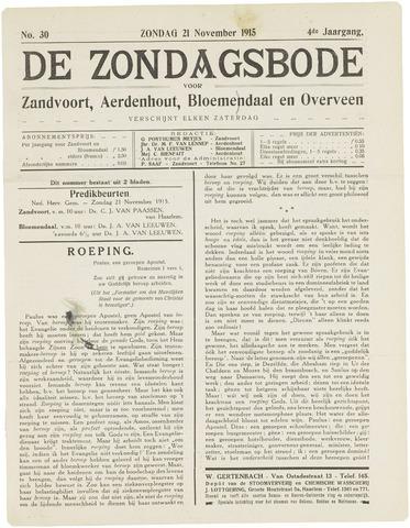 De Zondagsbode voor Zandvoort en Aerdenhout 1915-11-21