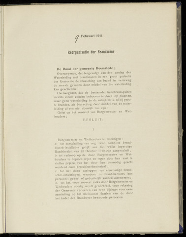 Raadsnotulen Heemstede 1911-02-09