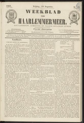 Weekblad van Haarlemmermeer 1863-08-14