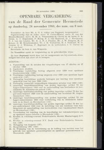 Raadsnotulen Heemstede 1960-11-24