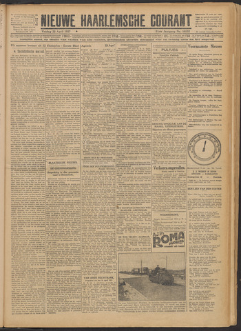 Nieuwe Haarlemsche Courant 1927-04-22