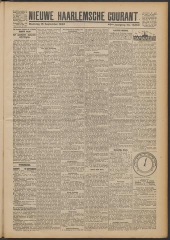 Nieuwe Haarlemsche Courant 1922-09-18