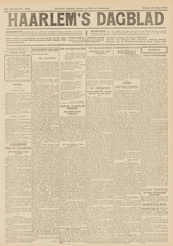 Haarlem's Dagblad 1926-03-26