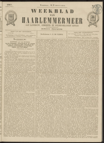 Weekblad van Haarlemmermeer 1867-02-08