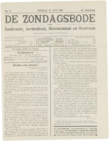 De Zondagsbode voor Zandvoort en Aerdenhout 1915-06-27