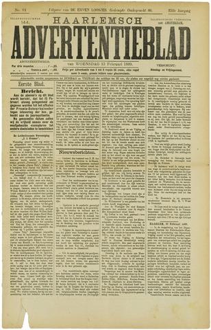 Haarlemsch Advertentieblad 1889-02-13