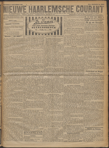 Nieuwe Haarlemsche Courant 1919-09-27