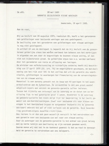 Raadsnotulen Heemstede 1980-05-30