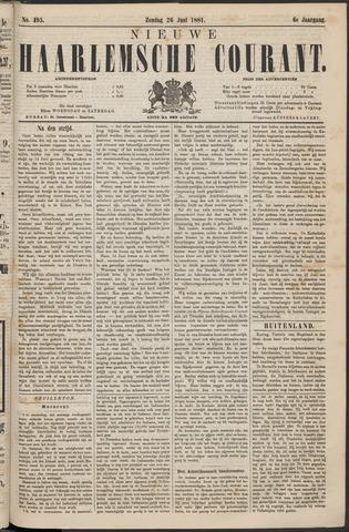 Nieuwe Haarlemsche Courant 1881-06-26