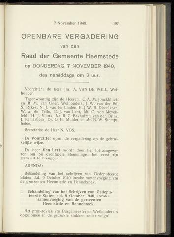 Raadsnotulen Heemstede 1940-11-07