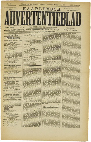 Haarlemsch Advertentieblad 1889-12-14