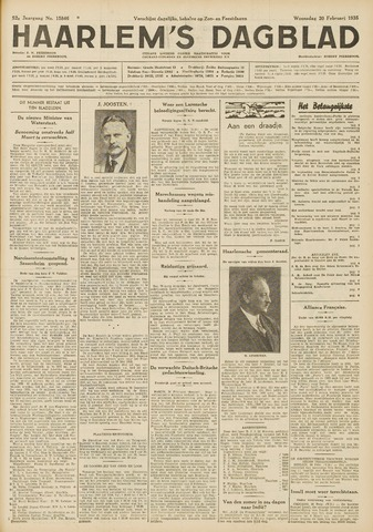 Haarlem's Dagblad 1935-02-20