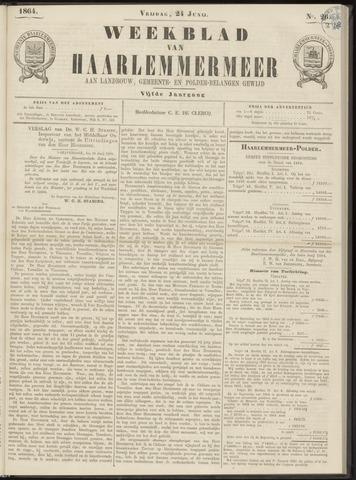 Weekblad van Haarlemmermeer 1864-06-24