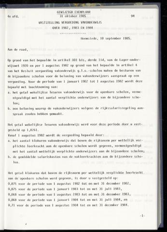 Raadsnotulen Heemstede 1985-10-31