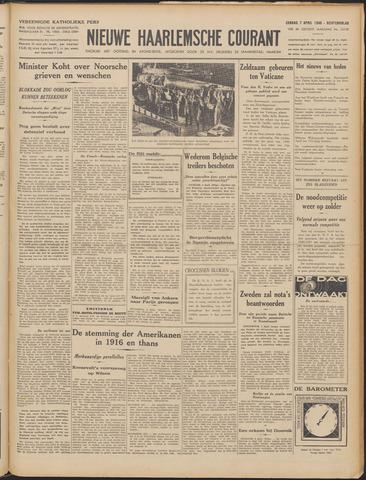 Nieuwe Haarlemsche Courant 1940-04-07