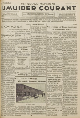 IJmuider Courant 1938-11-17