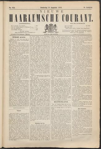Nieuwe Haarlemsche Courant 1884-08-21
